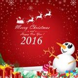Feliz Natal e ano novo feliz 2016 Santa Claus e rena branca Fotos de Stock