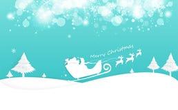 Feliz Natal e ano novo feliz, textura branca do fundo da arte do papel do inverno, estilo digital do ofício da decoração, Santa e ilustração royalty free