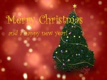Feliz Natal e anos novos felizes Foto de Stock Royalty Free