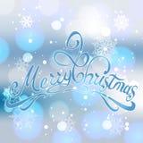 Feliz Natal e cartão do ano novo feliz Foto de Stock Royalty Free