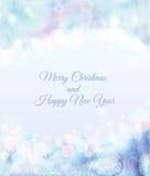 Feliz Natal e cartão do ano novo feliz Fotos de Stock