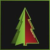 Feliz Natal e cartão do ano novo feliz Foto de Stock