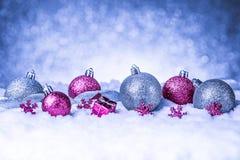 Feliz Natal e cartão do ano novo feliz Fotografia de Stock Royalty Free