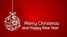 Feliz Natal e cumprimento do ano novo feliz Fotografia de Stock Royalty Free