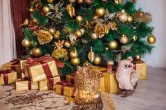 Feliz Natal e fundo do ano novo foto de stock