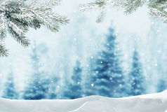 Feliz Natal e fundo do cumprimento do ano novo feliz Imagens de Stock Royalty Free