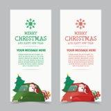 Feliz Natal e projeto da bandeira do ano novo feliz Fotografia de Stock Royalty Free