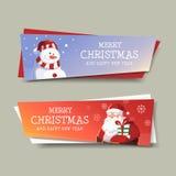 Feliz Natal e projeto da bandeira do ano novo feliz Imagens de Stock