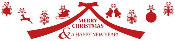 Feliz Natal e um ano novo feliz - fundo Fotos de Stock Royalty Free