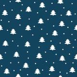 Feliz Natal e um ano novo feliz! Um grupo de fundos sem emenda com símbolos tradicionais: flocos de neve e abeto vermelho Vetor I ilustração stock