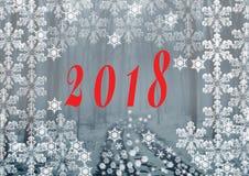 2018 FELIZ NATAL ELEGANTE E ANO NOVO FELIZ Foto de Stock