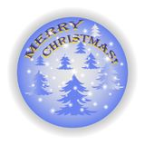 Feliz Natal 2018 em um fundo azul fotografia de stock