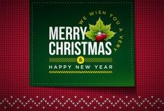 Feliz Natal feito malha Foto de Stock Royalty Free