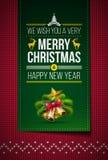 Feliz Natal feito malha Imagem de Stock Royalty Free