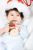Feliz Natal feliz do bebé Imagem de Stock Royalty Free