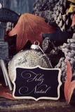 Feliz natal, Feliz Natal do texto no português Fotos de Stock Royalty Free
