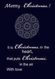 Feliz Natal festivo dos cumprimentos ilustração do vetor