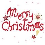Feliz Natal Garatuja tirada mão do vetor Ilustração Stock