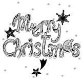 Feliz Natal Garatuja tirada mão do vetor isolada Ilustração Royalty Free