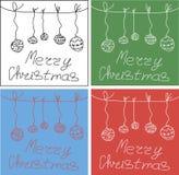 Feliz Natal 2017 Ilustração do vetor do feriado Imagem de Stock Royalty Free