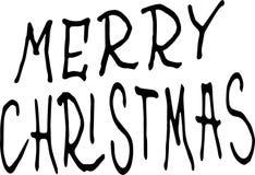 Feliz Natal Ilustra??o do feriado com composi??o da rotula??o ilustração do vetor