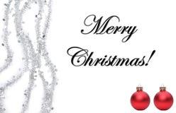 Feliz Natal na frente de um fundo branco imagem de stock royalty free