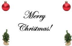 Feliz Natal na frente de um fundo branco ilustração royalty free