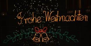 Feliz Natal no alemão Fotografia de Stock Royalty Free