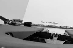 Feliz Natal no typewritter Fotos de Stock Royalty Free