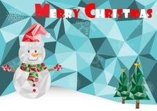Feliz Natal poligonal Fotos de Stock Royalty Free