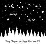 Feliz Natal que cumprimenta a bandeira Fotografia de Stock