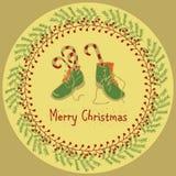 Feliz Natal que cumprimenta o grupo do projeto Imagens de Stock