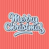 Feliz Natal que rotula o crachá Ilustração Stock