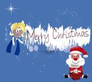 Feliz Natal Santa Fotografia de Stock