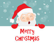 Feliz Natal, Santa Claus Fotografia de Stock