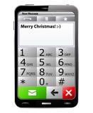 Feliz Natal SMS ilustração stock