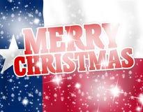 Feliz Natal Texas Flag Fotos de Stock Royalty Free