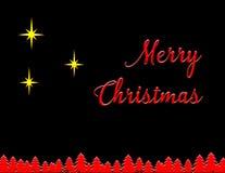 Feliz Natal três estrelas Imagens de Stock