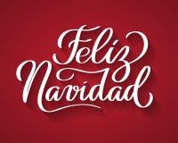 Feliz Navidad - веселое рождество от испанского иллюстрация штока