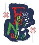 Feliz Navidad и оно значит с Рождеством Христовым Стоковые Изображения