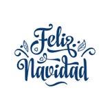 Feliz Navidad Карточка Xmas на испанском языке Стоковое фото RF