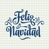 Feliz Navidad Карточка Xmas на испанском языке Стоковое Фото