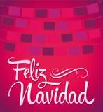 Feliz Navidad -圣诞快乐西班牙语 免版税库存图片