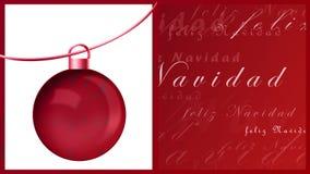 Feliz navidad Stock Photography