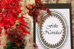 Feliz Navidad Royalty-vrije Stock Afbeelding