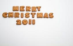 Feliz Navidad 2011 izquierdos superiores Fotografía de archivo libre de regalías