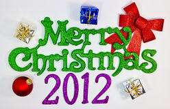 Feliz Navidad 2012 Fotografía de archivo libre de regalías