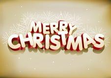 Feliz Navidad 3D Imagen de archivo