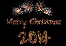 Feliz Navidad 2014 Imagen de archivo libre de regalías