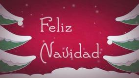 Feliz Navidad stock video